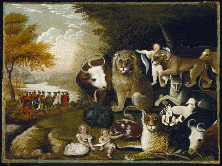 Brooklyn_Museum_-_The_Peaceable_Kingdom_-_Edward_Hicks_-_overall